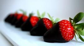 4K Berries In Chocolate Pics