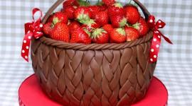 4K Berries In Chocolate Wallpaper Full HD