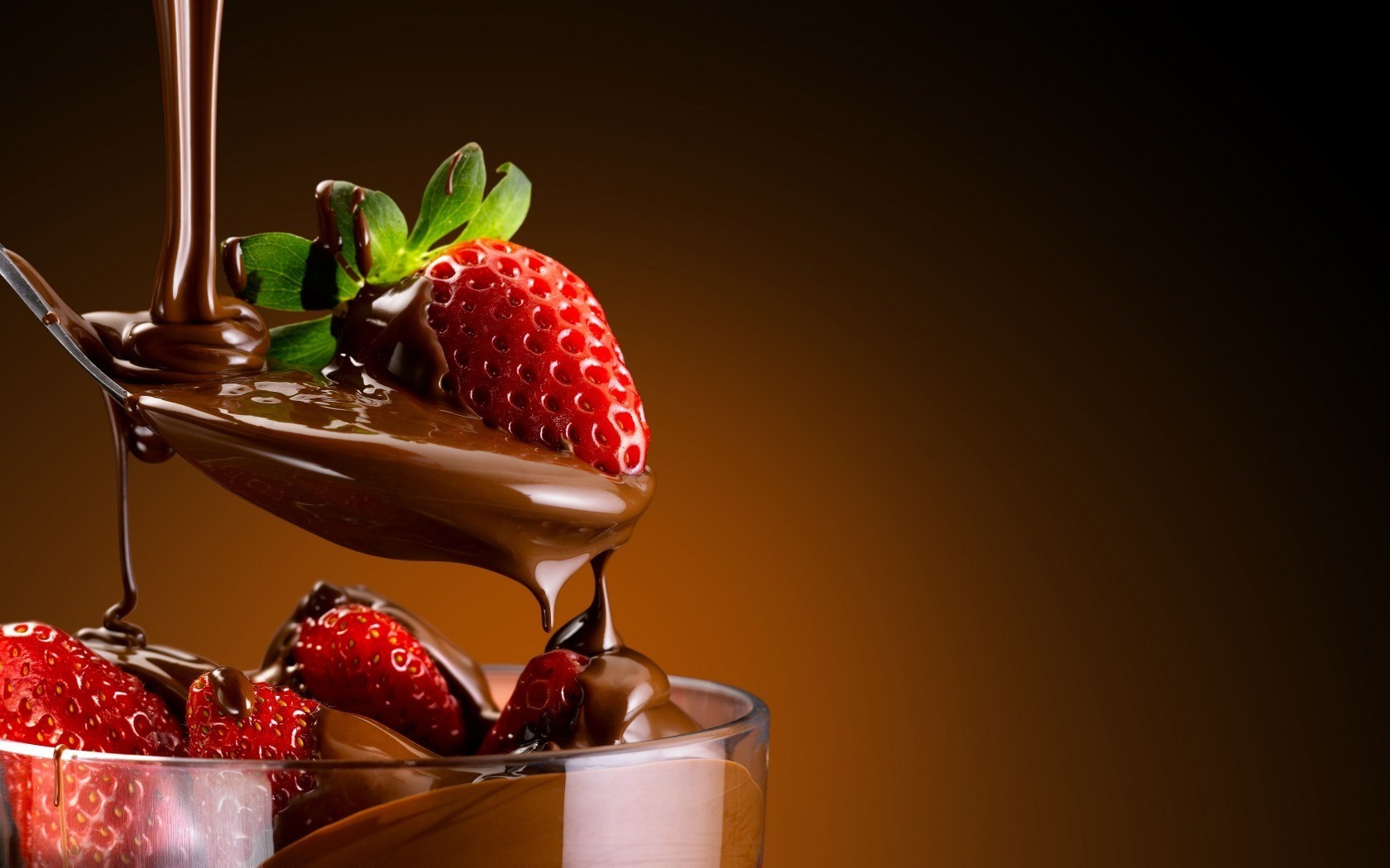 4k Berries In Chocolate Wallpapers High Quality Download
