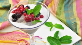 Berries And Milk Photo Download