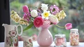 Bouquet In A Vase Desktop Wallpaper HD