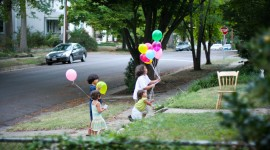Children With Balloons Photo