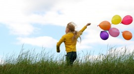 Children With Balloons Photo Download