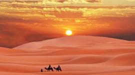 Dawn In The Desert Desktop Wallpaper