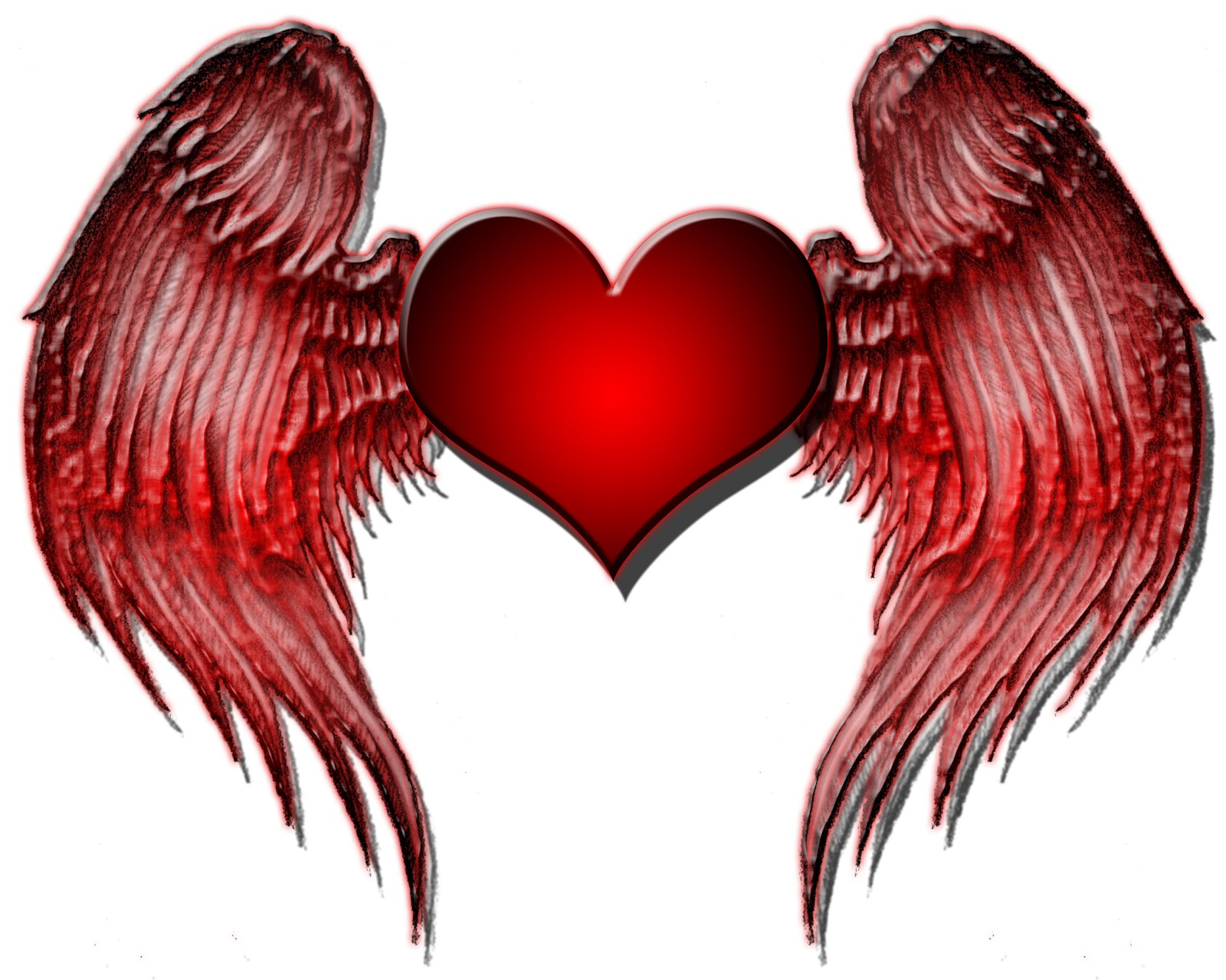 Hearts with wings