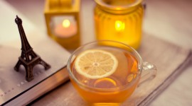 Lemon Tea Desktop Wallpaper For PC