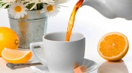 Lemon Tea Desktop Wallpaper HD