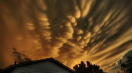 The Unusual Shape Of The Clouds Image