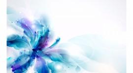 4K Blue Flowers Image