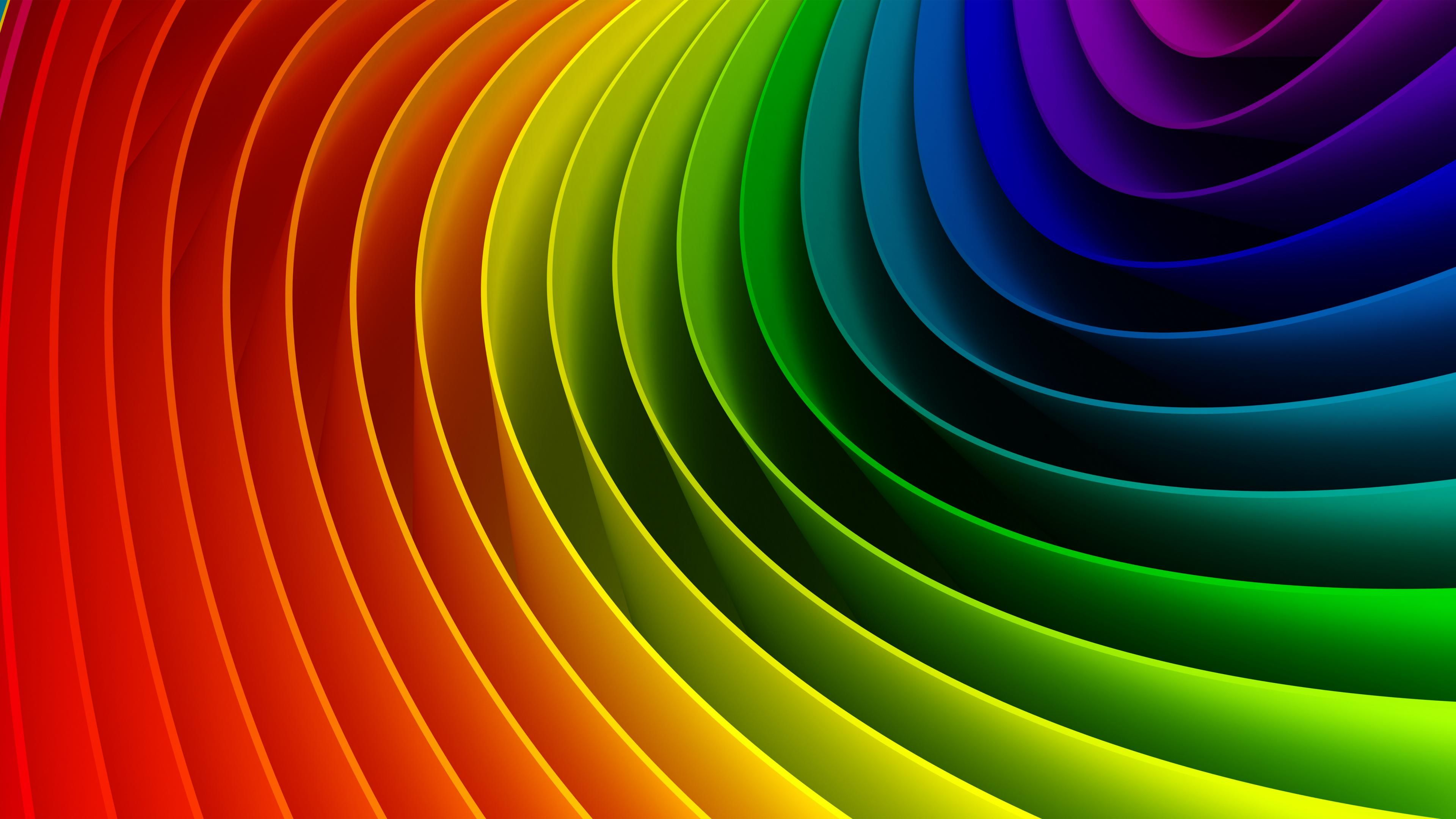 4k rainbow wallpapers high quality download free