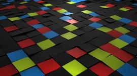 4K Squares Desktop Wallpaper