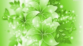 Green Flowers Image Download
