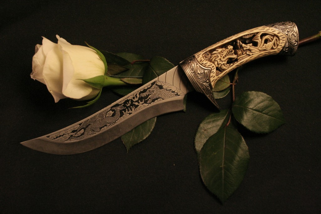 Knife And Flower wallpapers HD