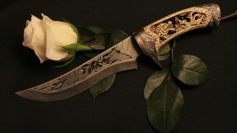Knife And Flower wallpapers high quality