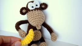 Monkey With Banana Wallpaper