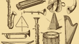 Old Musical Instruments Image