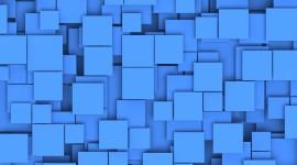 Blue Squares Photo Free