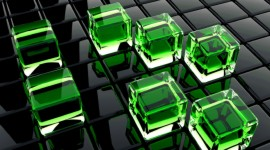 Green Squares Best Wallpaper