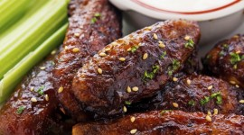 Baked Chicken Wings Wallpaper For IPhone
