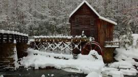 Bridges In Winter Desktop Wallpaper