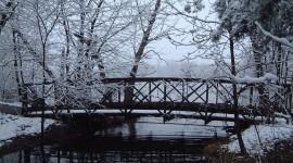 Bridges In Winter Desktop Wallpaper For PC