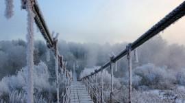 Bridges In Winter Desktop Wallpaper HD