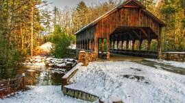 Bridges In Winter Wallpaper For Desktop