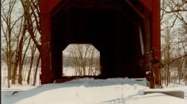 Bridges In Winter Wallpaper For IPhone