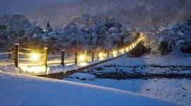 Bridges In Winter Wallpaper For PC