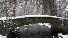 Bridges In Winter Wallpaper Free