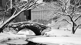Bridges In Winter Wallpaper Full HD