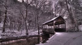 Bridges In Winter Wallpaper Full HD#1