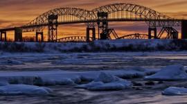 Bridges In Winter Wallpaper Full HD#2