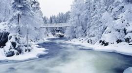 Bridges In Winter Wallpaper HQ