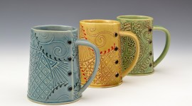Ceramic Mugs Wallpaper Background