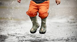 Jump In Puddles Best Wallpaper