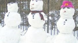 Snowmen Wallpaper Full HD