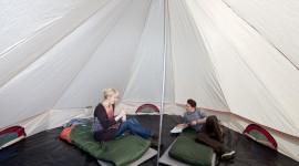 Stay In Tents Wallpaper
