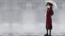Walking In The Rain Desktop Wallpaper