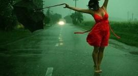 Walking In The Rain Desktop Wallpaper HD