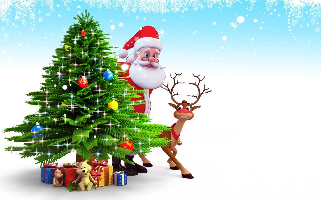 4K Christmas Reindeer wallpapers HD