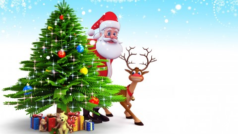 4K Christmas Reindeer wallpapers high quality