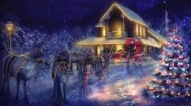 4K Christmas Reindeer Desktop Wallpaper