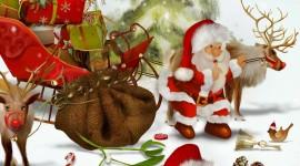 4K Christmas Reindeer Image Download