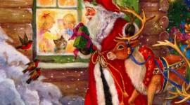 4K Christmas Reindeer Wallpaper Download