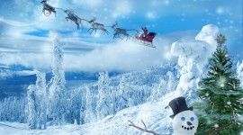 4K Christmas Reindeer Wallpaper HQ