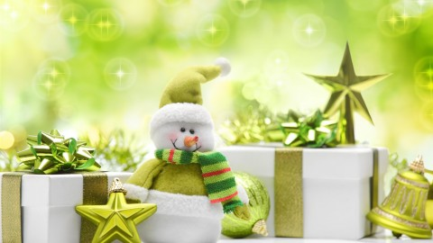 4K Christmas Snowman wallpapers high quality