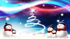4K Christmas Snowman Image