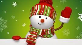 4K Christmas Snowman Image#1