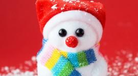 4K Christmas Snowman Photo4K Christmas Snowman Photo